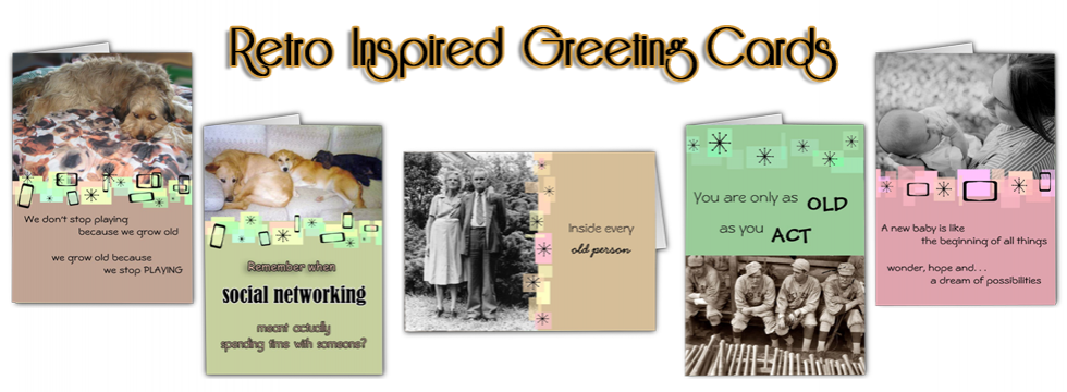 Retro-Inspired Greeting Cards