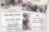 Purple grey sterling silver roses wedding invitation stationery set
