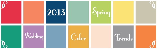 2013 spring color trends header Party Simplicity 2013 Wedding Trends   Colors and Themes
