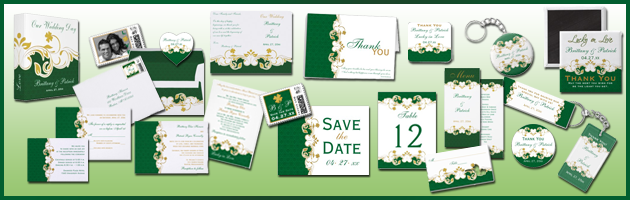 Green Gold White CollectionBlog Party Simplicity Saint Patricks Day Wedding Celebrations