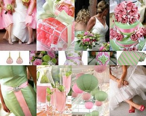 Pink and Green Spring Wedding 300x240 Party Simplicity Saint Patricks Day Wedding Celebrations