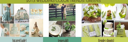Spring wedding Color Trends 2013 Green Tones