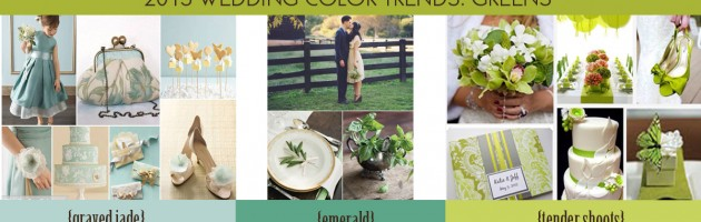 Spring wedding Color Trends 2013 Green Tones