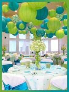 aqualime 225x300 Party Simplicity Saint Patricks Day Wedding Celebrations