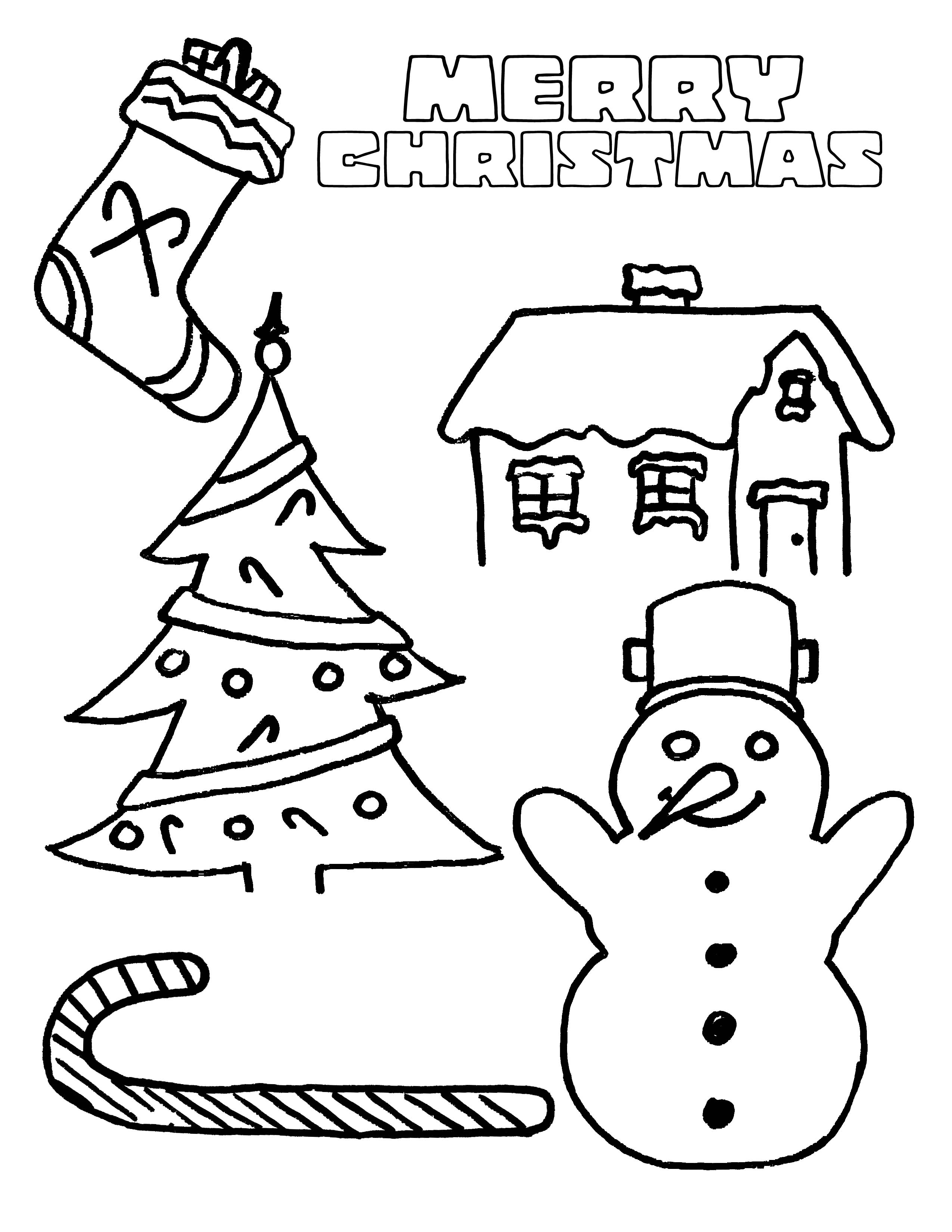 Party simplicity free christmas coloring page for kids for Christmas coloring in pages