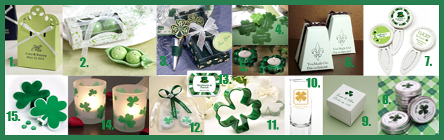favors Party Simplicity Saint Patricks Day Wedding Celebrations