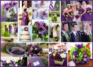 green purple 300x217 Party Simplicity Saint Patricks Day Wedding Celebrations