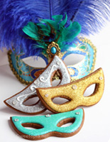 masquerde cookies Party Simplicity Masquerade Party Ideas
