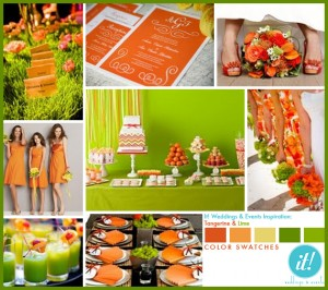 tangerine and lime1 300x266 Party Simplicity Saint Patricks Day Wedding Celebrations
