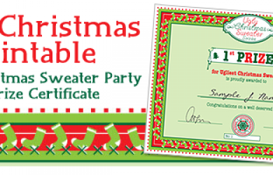 Free Christmas Printable Ugly Christmas Sweater Party Prize ...