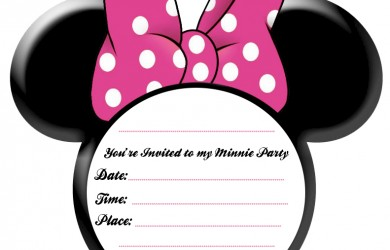 Minnie Mouse Free Printable Invitation