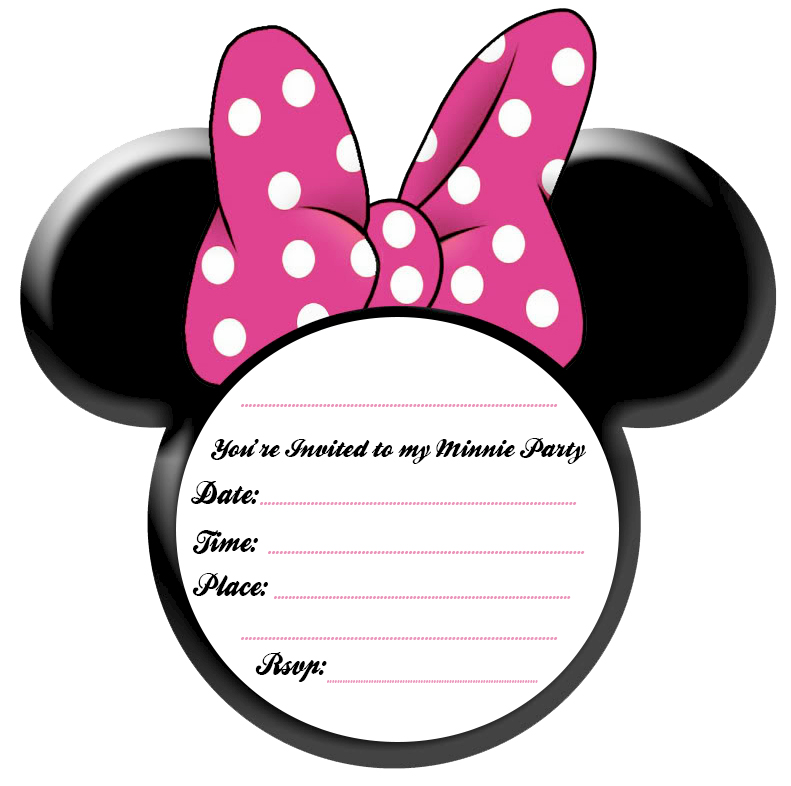 Minnie Mouse Template Invitations Images amp Pictures Becuo