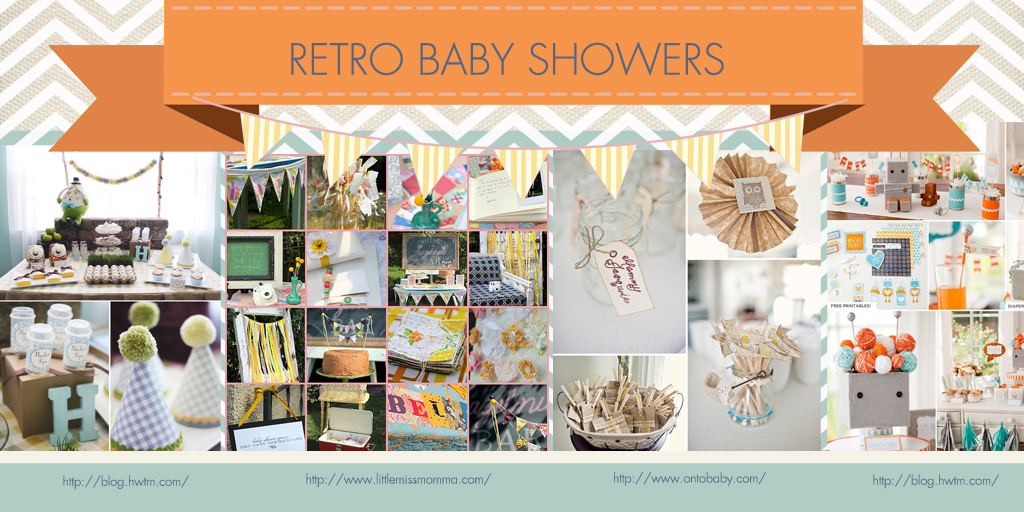 RETRO BABY SHOWER IMAGES FOR BLOG1 Party Simplicity Baby Shower Trends for 2013 : Gender Reveal, Manshowers, and More