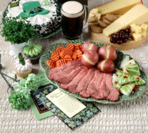 St Patricks Day Dinner 300x270 Party Simplicity Saint Patricks Day Wedding Celebrations