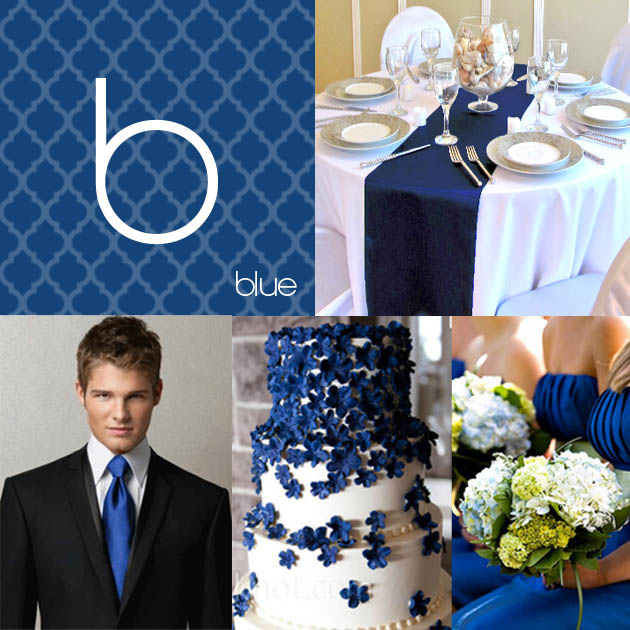 Party Simplicity Blue Wedding