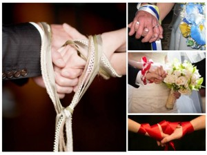 handfasting ceremony 300x225 Party Simplicity Saint Patricks Day Wedding Celebrations