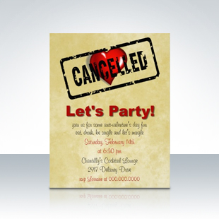 Anti Valentines Day Singles Party Invitations 310 Party Simplicity Anti Valentines Day Party Ideas