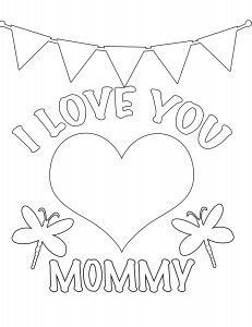 I Love you mommy coloring page 231x300 Party Simplicity Free Valentines Day Coloring Pages and Printables