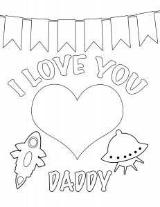 I love you daddy coloring page 231x300 Party Simplicity Free Valentines Day Coloring Pages and Printables