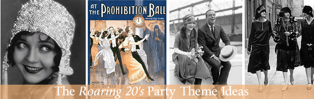Roaring 20s party theme header Party Simplicity Roaring 20s Party Theme Ideas
