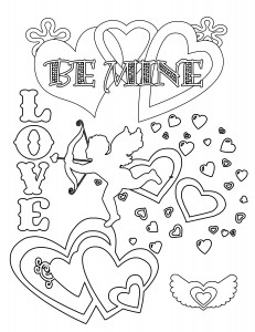 Valnetines day coloring page 231x300 Party Simplicity Free Valentines Day Coloring Pages and Printables