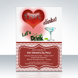 Whimsical Anti Valentines Day Party Invitations 310 Party Simplicity Anti Valentines Day Party Ideas