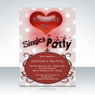 Whimsical Valentines Day Singles Party Invitations 310 Party Simplicity Anti Valentines Day Party Ideas