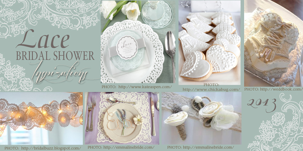 lace photo insert 12 Party Simplicity Lace Inspired Bridal Showers are Trends for 2013