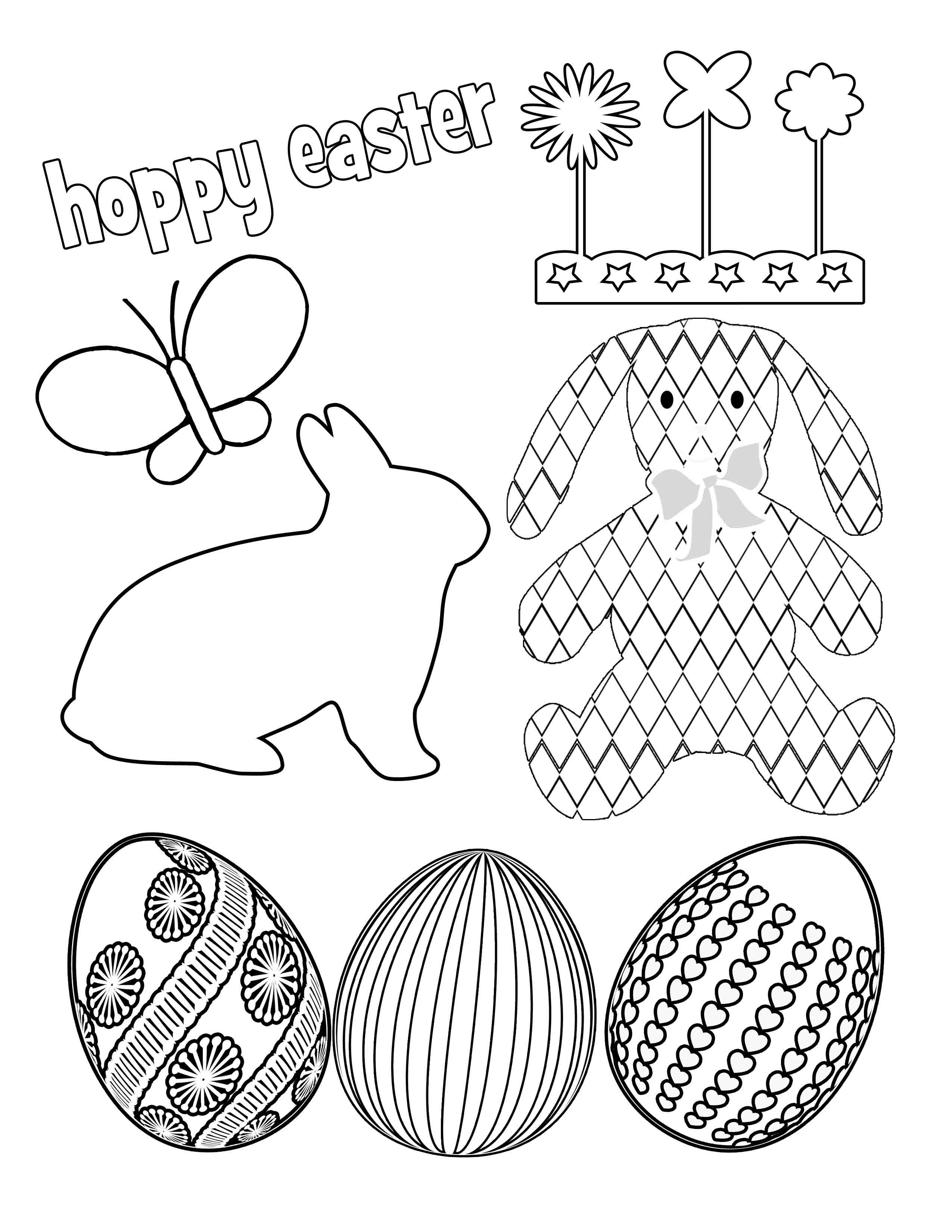 Party simplicity free easter printables kids coloring for Free easter coloring page