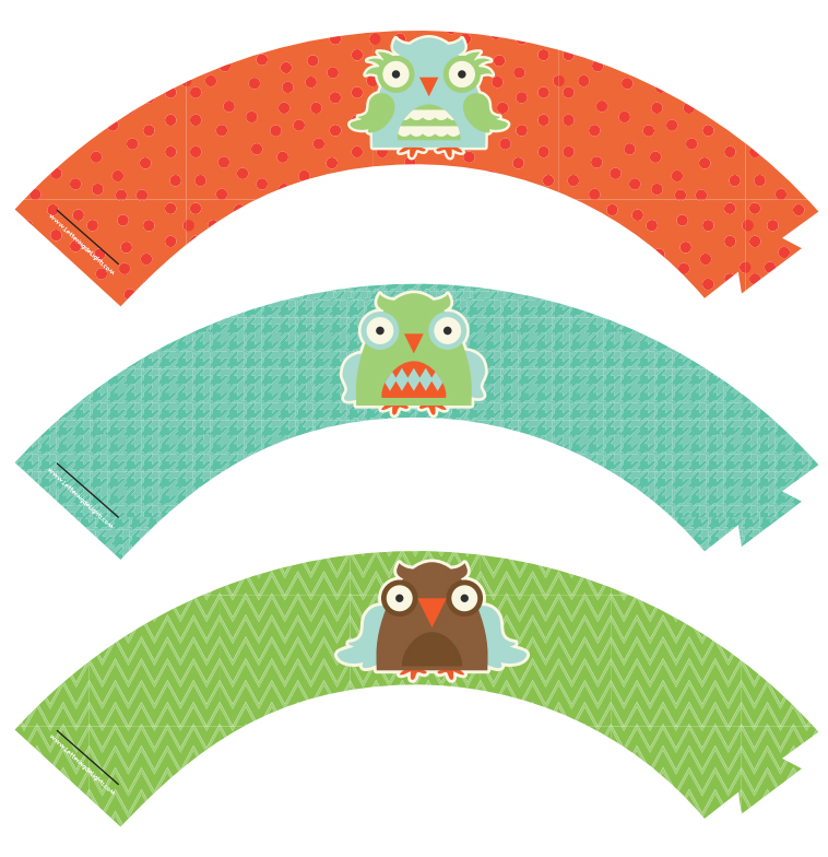 FREE OWL CUPCAKE WRAPPERS Party Simplicity Free Owl Party Printables & Gift Ideas