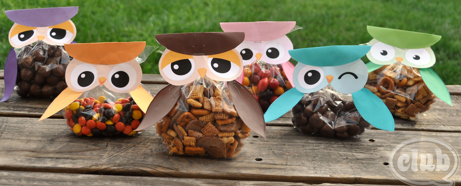 FREE OWL TREAT BAGS Party Simplicity Free Owl Party Printables & Gift Ideas