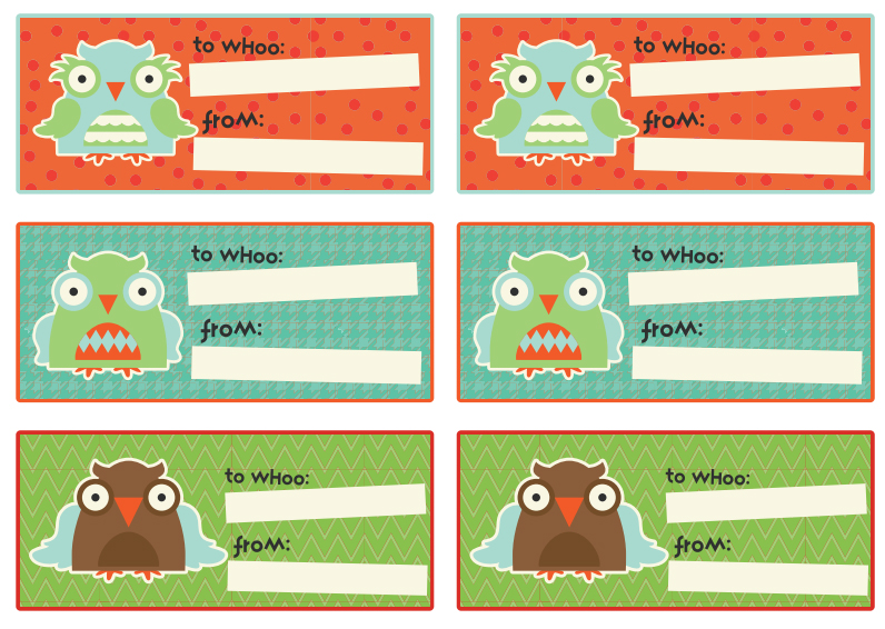 OWL GIFT TAG STICKERS Party Simplicity Free Owl Party Printables & Gift Ideas