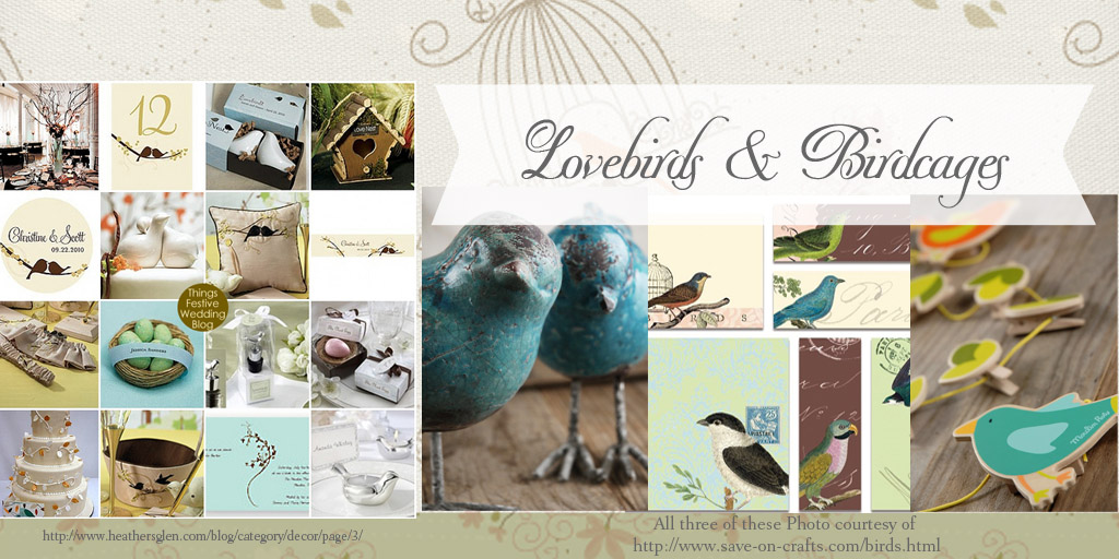 lovebirds Party Simplicity Rustic Bridal Shower Decor DIY Decorations