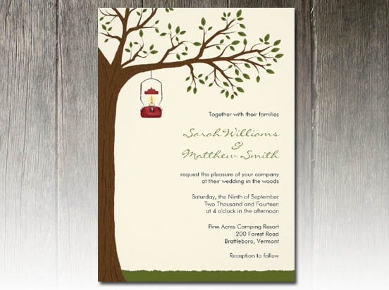 Outdoor Wedding Invitation Wording: Outdoor Camping Wedding Invitations Party Simplicity