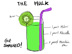Avenger Cocktails Hulk 300x225 Party Simplicity Tips for Throwing a Geek Themed Birthday Party