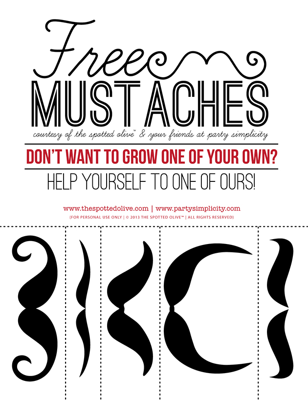 free mustaches preview Party Simplicity Mustache Trend Invitation Design Challenge