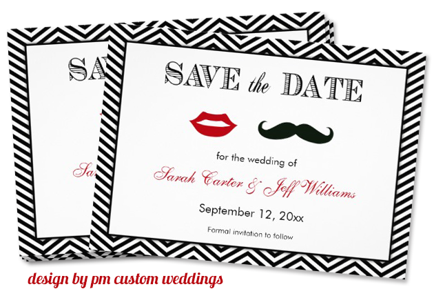 mustache invitation design by pm custom weddings Party Simplicity Mustache Trend Invitation Design Challenge