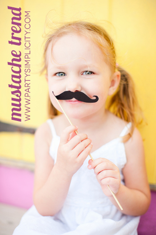 mustache trend little girl with mustache on a stick Party Simplicity Mustache Trend Invitation Design Challenge