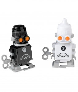 salt and pepper robots 254x300 Party Simplicity Tips for Throwing a Geek Themed Birthday Party