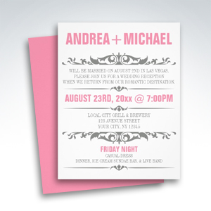 Party Simplicity Reception Only Invitations - Party Simplicity