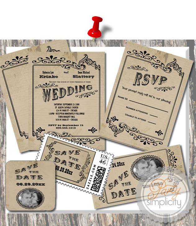 Western Wedding Invitations: Party Simplicity Country Western Wedding Invitation