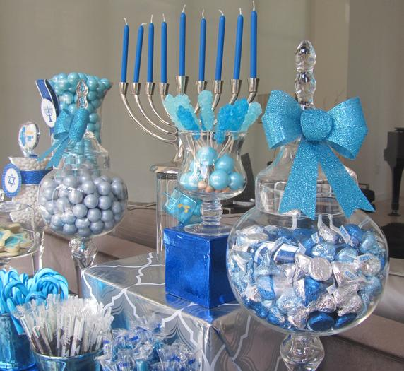 party simplicity blue and silver hanukkah celebrations