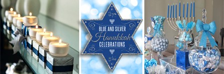 Blue and Silver Hanukkah Celebrations