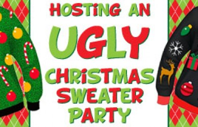 hosting an ugly christmas sweater party - Ugly Christmas Sweater Party Decorations