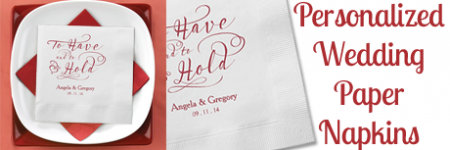 Disposable Personalized Wedding Paper Napkins