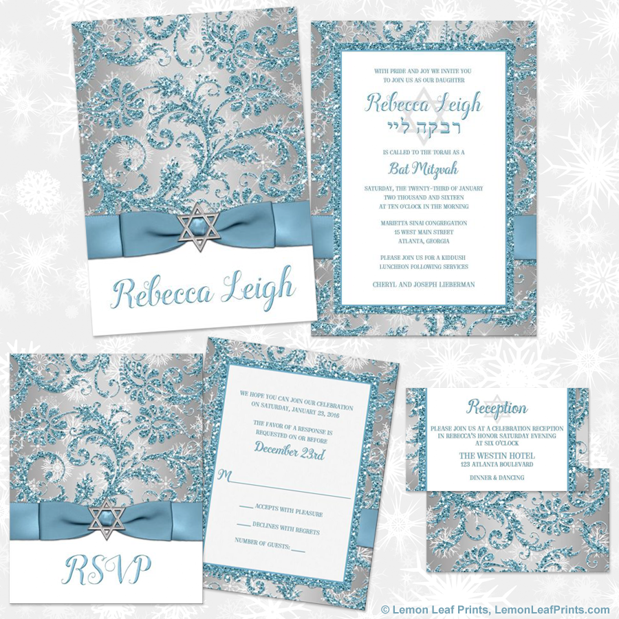 Party simplicity winter wonderland bat mitzvah invitations and party simplicity winter wonderland bat mitzvah invitations and party ideas party simplicity pronofoot35fo Image collections
