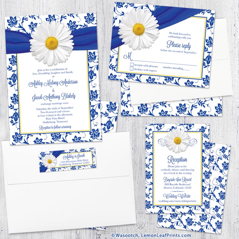 White Daisy Wedding Invitation: Party Simplicity White Daisy Wedding Ideas