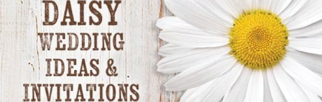 White daisy wedding ideas and invitations