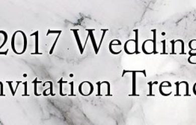 2017 Wedding Invitation Trends
