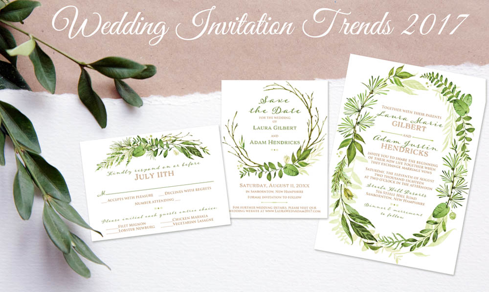 Party Simplicity 2017 Wedding Invitation Trends Party Simplicity